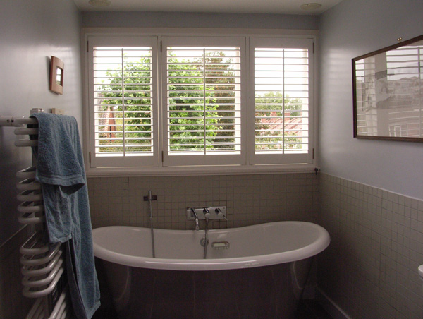 Plantation shutters with 63mm louvres and wider panels