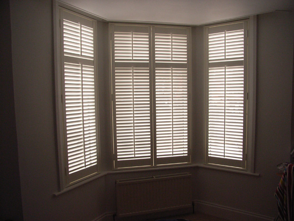 MDF plantation shutters with 47mm louvres