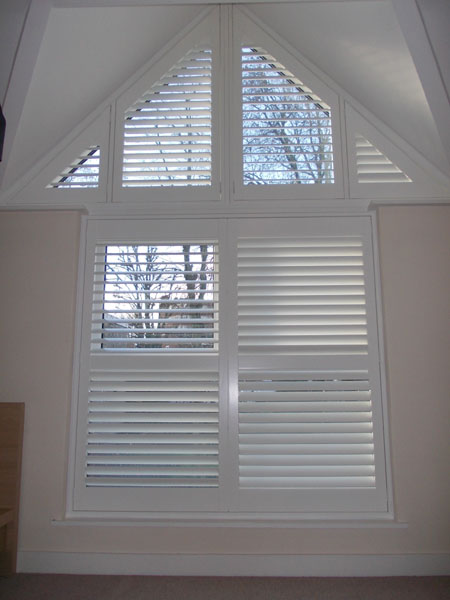 Special Shape Plantation Shutters installed North London by Select Shutters