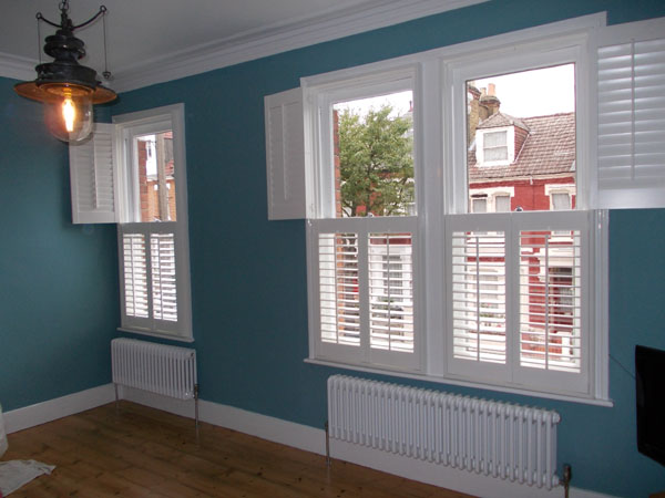 Tier on tier Plantation Shutters fitted in North London by Select Shutters